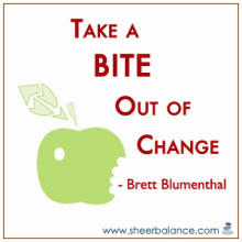 Bite out of Change