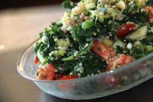 Tabouleh with Quinoa and Collard Greens